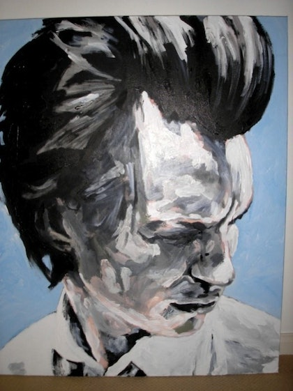 (CreativeWork) Blue Day by Andrew Dunsire. arcylic-painting. Shop online at Bluethumb.
