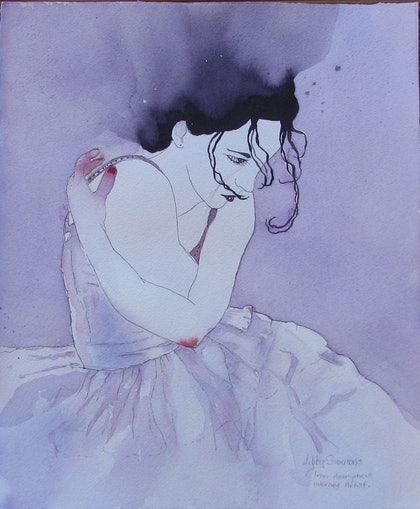 (CreativeWork) After The Fall by Libby Simmons. watercolour. Shop online at Bluethumb.