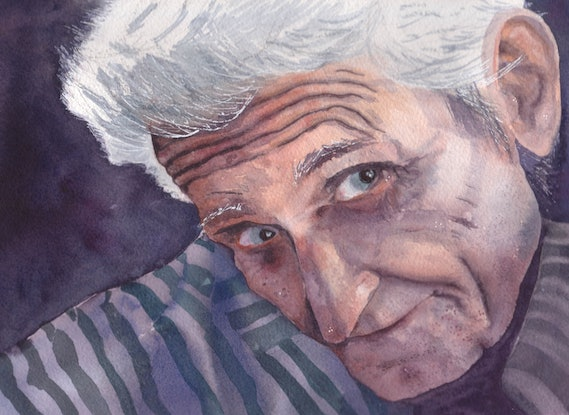 (CreativeWork) Gramps by Libby Simmons. Watercolour Paint. Shop online at Bluethumb.