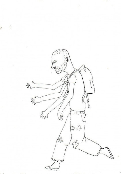 (CreativeWork) Running by Luke Foster. drawing. Shop online at Bluethumb.