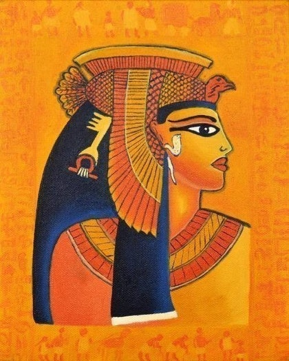 (CreativeWork) CLEOPATRA\'S CHARM by Kam Saberwal. oil-painting. Shop online at Bluethumb.