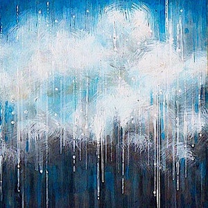 (CreativeWork) Rain (resin finish) by Sumei chew. acrylic-painting. Shop online at Bluethumb.