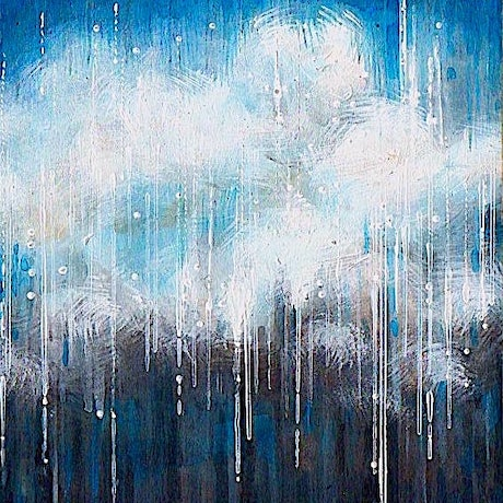 (CreativeWork) Rain (resin finish) by Sumei chew. Acrylic Paint. Shop online at Bluethumb.