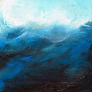 (CreativeWork) The Sea (resin finish) by Sumei chew. mixed-media. Shop online at Bluethumb.