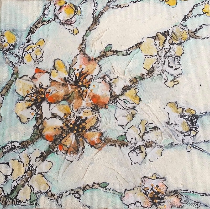 cherries 15x15cm by sumei chew paintings for sale bluethumb