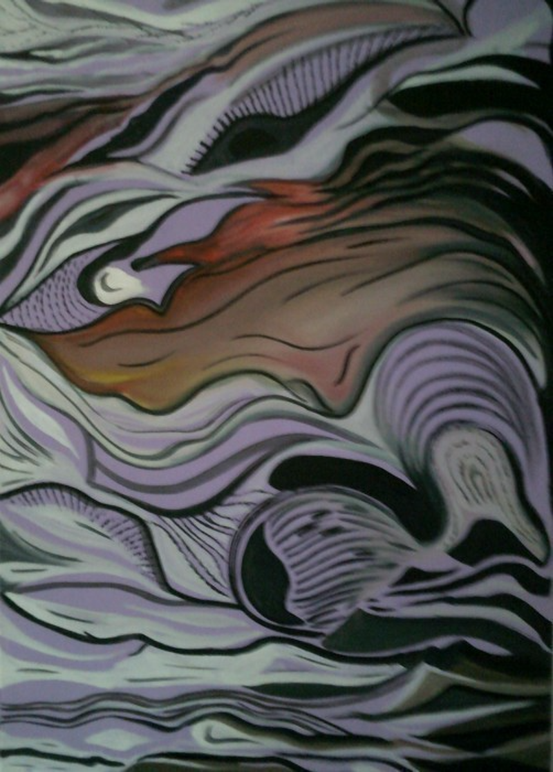 (CreativeWork) Wave by Christine DuBrae-James. mixed-media. Shop online at Bluethumb.