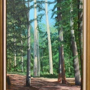 (CreativeWork) BLUE GUMS by alan thomas. arcylic-painting. Shop online at Bluethumb.