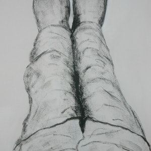 (CreativeWork) The Artist Looking Down at 3am by alan thomas. drawing. Shop online at Bluethumb.