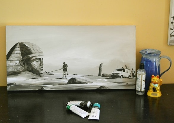 (CreativeWork) The Questioner of the Sphinx by Ben Tankard. Acrylic. Shop online at Bluethumb.