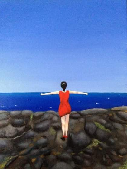 (CreativeWork) My sea by JIE JIA. arcylic-painting. Shop online at Bluethumb.
