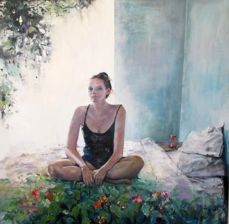 (CreativeWork) Serenity before chaos by Sara Roberts. oil-painting. Shop online at Bluethumb.