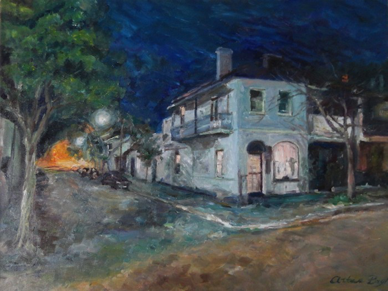 (CreativeWork) Glebe by Artem Bryl. oil-painting. Shop online at Bluethumb.