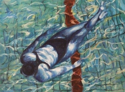 (CreativeWork) Glide by Ross Wilson. oil-painting. Shop online at Bluethumb.
