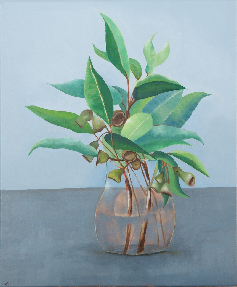 (CreativeWork) eucalypt leaves by adele dubarry. oil-painting. Shop online at Bluethumb.