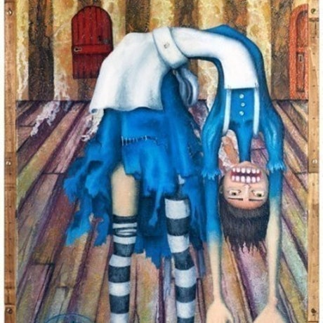 (CreativeWork) Big Alice' Little Door by Kelly-Jade King. Acrylic Paint. Shop online at Bluethumb.