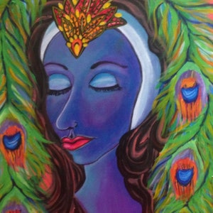 (CreativeWork) Mona by Avril Louise Godfrey. arcylic-painting. Shop online at Bluethumb.