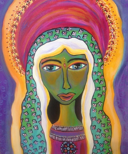 (CreativeWork) Glorify by Avril Louise Godfrey. arcylic-painting. Shop online at Bluethumb.