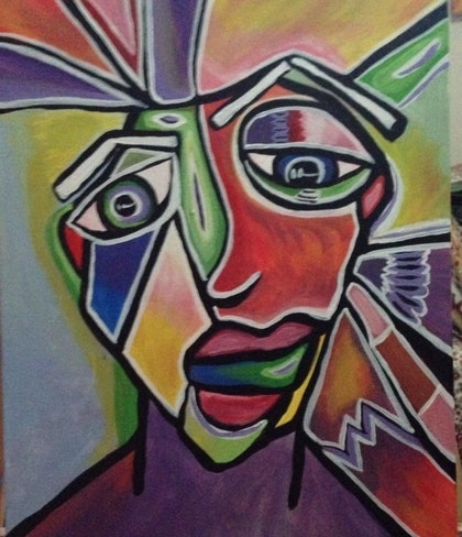 (CreativeWork) Pause by Avril Louise Godfrey. arcylic-painting. Shop online at Bluethumb.