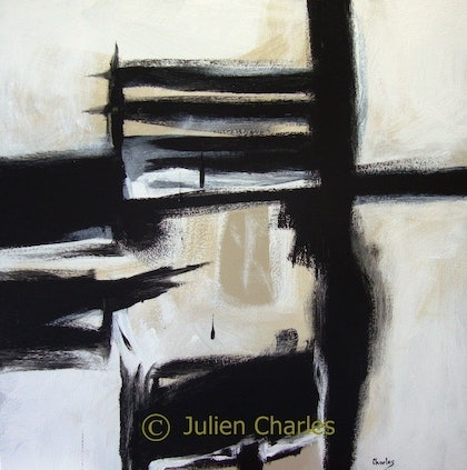 (CreativeWork) The Boxed Furnace by Julien Papa Charles. arcylic-painting. Shop online at Bluethumb.