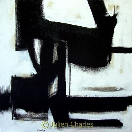 (CreativeWork) Worried Faces by Julien Papa Charles. arcylic-painting. Shop online at Bluethumb.