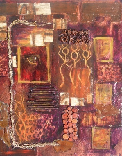 (CreativeWork) Mysterious by Jennifer Bowers. mixed-media. Shop online at Bluethumb.