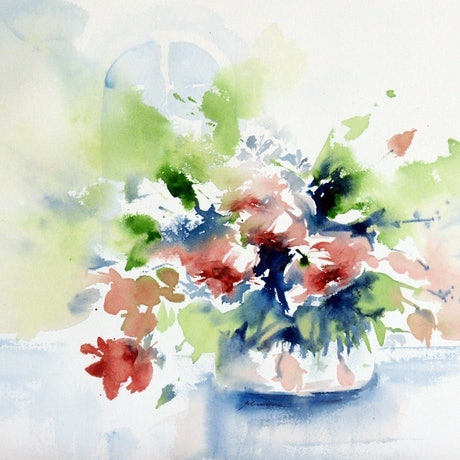 (CreativeWork) Late Pick by Jill Bryant. Watercolour Paint. Shop online at Bluethumb.