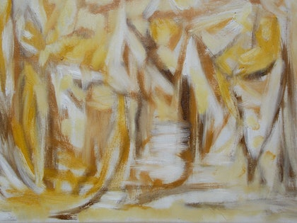 (CreativeWork) Two shades true by Karen Moss. oil-painting. Shop online at Bluethumb.