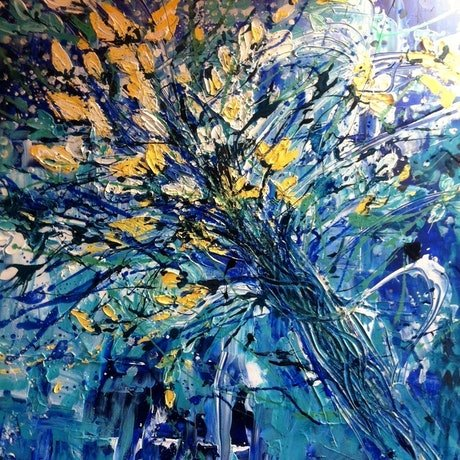 (CreativeWork) In The Summer Time by Marianne Ulbrick. Acrylic Paint. Shop online at Bluethumb.