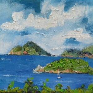 (CreativeWork) Whitsunday Postcards 2 by Leanne Kremp. oil-painting. Shop online at Bluethumb.