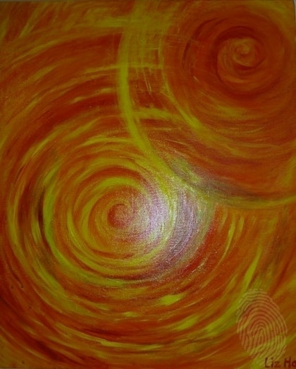 (CreativeWork) Planets by Liz Hall. arcylic-painting. Shop online at Bluethumb.