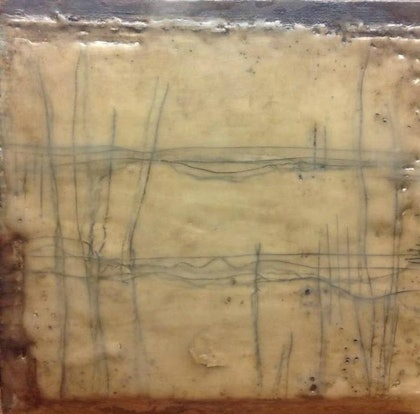 (CreativeWork) (Encaustic)Southern Tableland Series 4 by Catherine Ward. other-media. Shop online at Bluethumb.