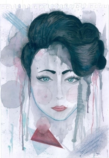 (CreativeWork) Off With Her Head by Kate Staples. watercolour. Shop online at Bluethumb.