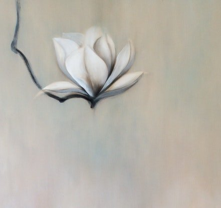 (CreativeWork) Magnolia Therapy #3 by Haruyo Morita. Oil Paint. Shop online at Bluethumb.