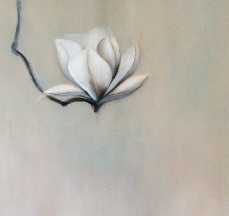 (CreativeWork) Magnolia Therapy #3 by Haruyo Morita. oil-painting. Shop online at Bluethumb.