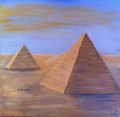 (CreativeWork) Egypt by Donella Brown. arcylic-painting. Shop online at Bluethumb.