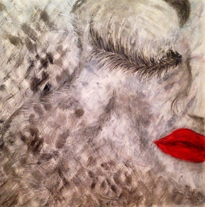 (CreativeWork) Kiss by Courtney Gibbins. other-media. Shop online at Bluethumb.