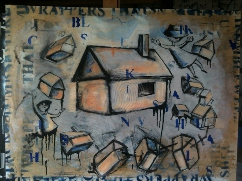 (CreativeWork) House painting #1 by Josh McCrimmon. arcylic-painting. Shop online at Bluethumb.