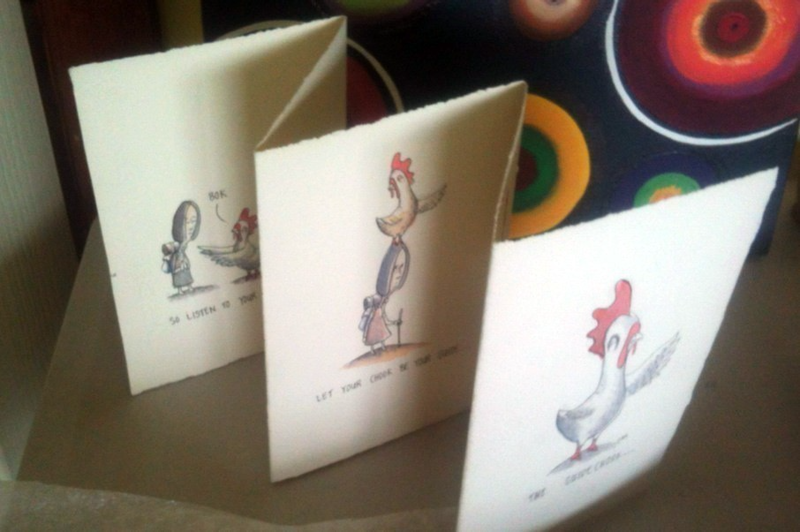 (CreativeWork) The Guide Chook artist book by Josh McCrimmon. drawing. Shop online at Bluethumb.