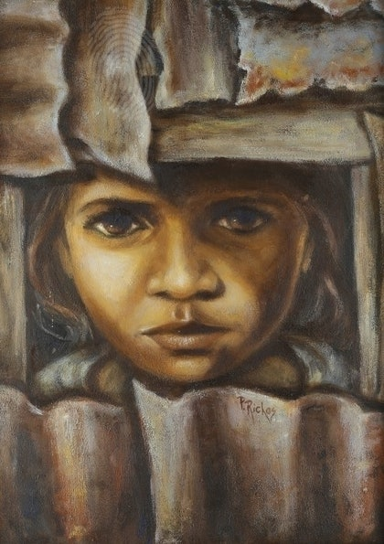 (CreativeWork) As She Sees It by Pam Riches. oil-painting. Shop online at Bluethumb.
