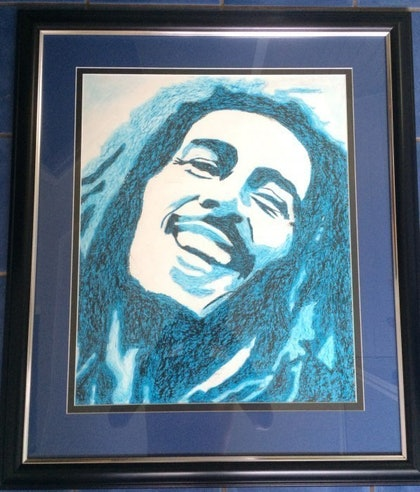 (CreativeWork) Bob Marley by Kane Brunjes. oil-painting. Shop online at Bluethumb.