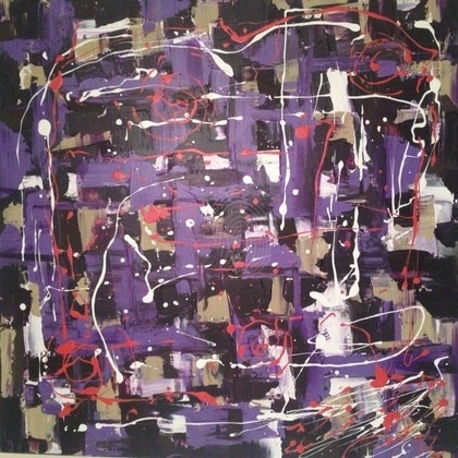 (CreativeWork) Anxiety by Andrew Grzebieta. arcylic-painting. Shop online at Bluethumb.