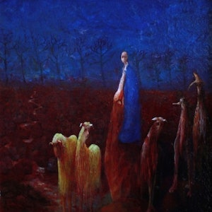 (CreativeWork) The Fleece by John Moran. oil-painting. Shop online at Bluethumb.