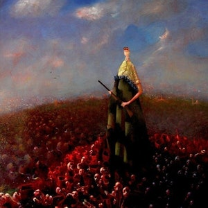 (CreativeWork) Victory Man by John Moran. oil-painting. Shop online at Bluethumb.