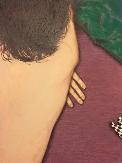 (CreativeWork) After Sex by Pantelis Roussakis. oil-painting. Shop online at Bluethumb.