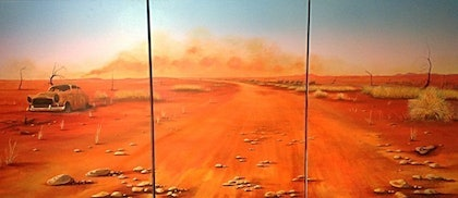 """(CreativeWork) """"Gotta get back outback"""" by Jimi Bobbin. arcylic-painting. Shop online at Bluethumb."""