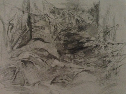(CreativeWork) In the mountains by Zhanna Batyrkulova. drawing. Shop online at Bluethumb.