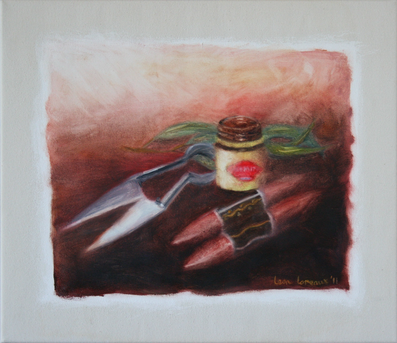 (CreativeWork) Still Life with Australia by Leon Loreaux. oil-painting. Shop online at Bluethumb.