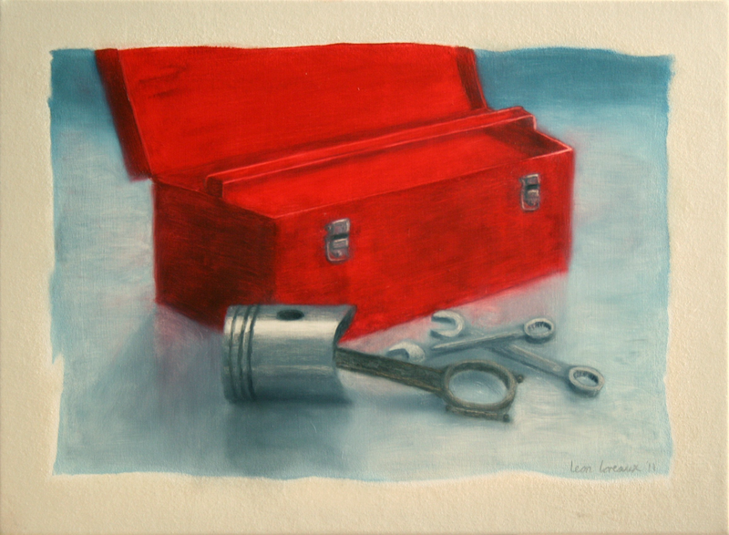 (CreativeWork) Steel Life by Leon Loreaux. oil-painting. Shop online at Bluethumb.
