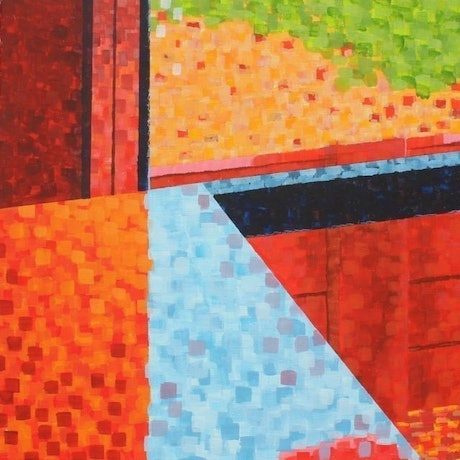 (CreativeWork) Outside In by Pip Montier. Acrylic Paint. Shop online at Bluethumb.