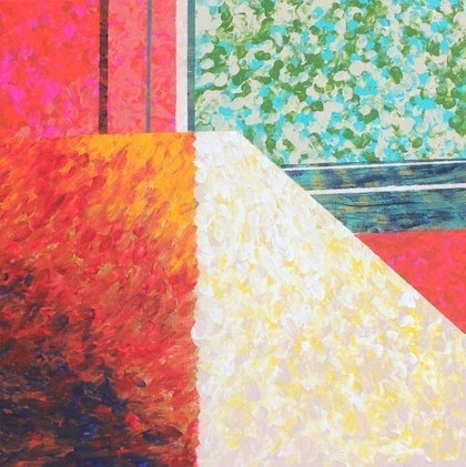 (CreativeWork) Inside Out by Pip Montier. arcylic-painting. Shop online at Bluethumb.